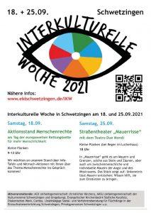 Plakat zur Interkulturellen Woche 2021
